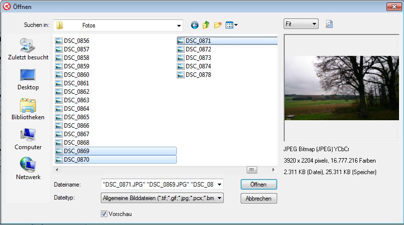 Bilder hochladen Datei Explorer